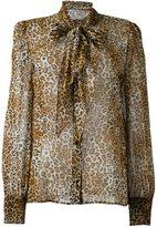 Saint Laurent signature lavaliere blouse - women - Silk - 42