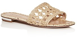 Schutz Women's Zaila Woven Slide Sandals