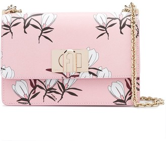 Furla Floral Print Shoulder Bag