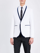 DSQUARED2 Velvet-trim slim-fit cotton-blend jacket