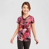 Champion Girls' Tech T-Shirt Coral Print