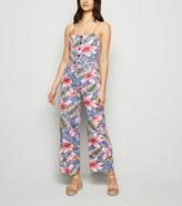 New Look Mela Tropical Button Jumpsuit