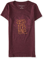 Aeropostale Womens Stacked Aero Logo Graphic T Shirt