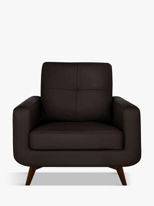 John Lewis & Partners Barbican Leather Armchair, Dark Leg
