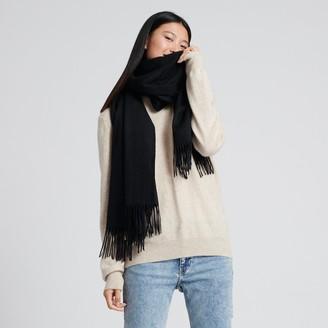 Naadam Cashmere Solid Scarf Black