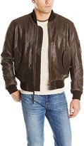 Alpha Industries Men's MA-1 Leather Bomber Jacket