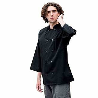 Uncommon Threads Unisex 10 Button 3/4 Sleeve Chef Coat