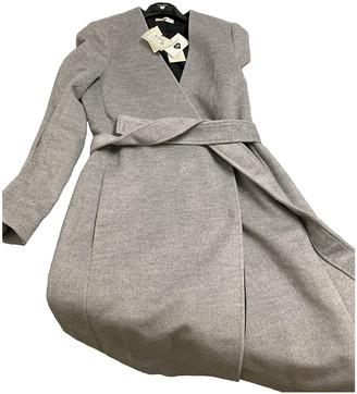 Twin-Set Twin Set Grey Cotton Coats