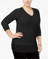 Alfani Plus Size Layered-Look Top, Only at Macy's