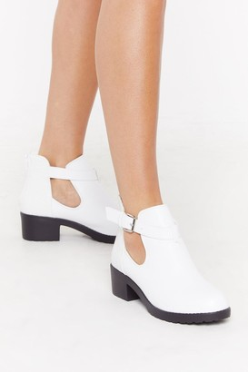 Nasty Gal Womens New Kid on the Croc Faux Leather Boots - White