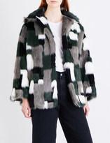 Diesel L-Zeky patchwork faux-fur jacket