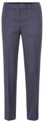 BOSS Relaxed-fit trousers in micro-patterned Italian virgin wool