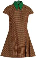 DELPOZO Detachable-collar tweed A-line dress