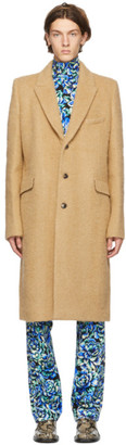 Paco Rabanne Beige Alpaca and Mohair Coat