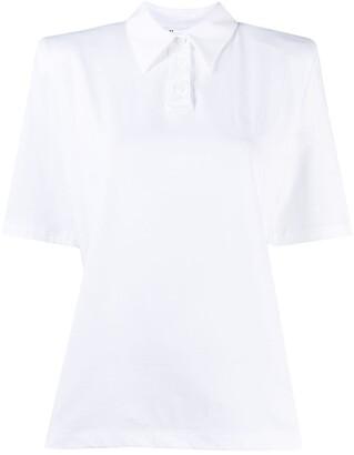 ATTICO Short-Sleeve Polo Blouse