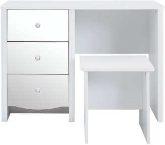 Alexis Mirror Effect Dressing Table and Stool Set