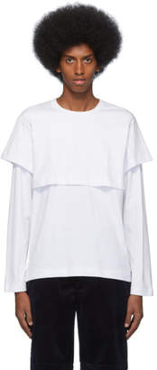 Comme des Garcons White Layered Long Sleeve T-Shirt
