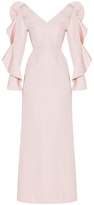 Christian Siriano Flouce Sleeves Gown