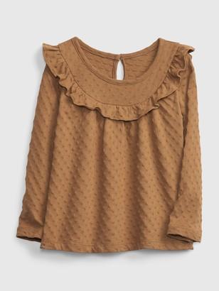 Gap Toddler Ruffle Print Shirt