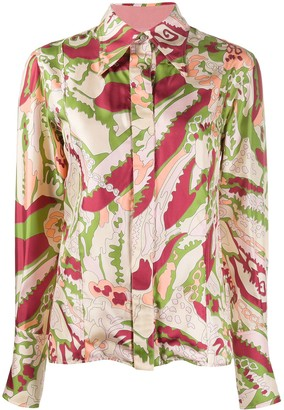 Victoria Beckham printed pointed collar shirt