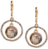 lonna & lilly Abalone & Pave Orbital Drop Earrings