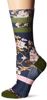 Stance Women's Blossom Wall Floral Arch Support Classic Crew Sock