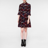 Paul Smith Women's Navy 'Rose' Print Silk Dress