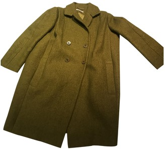 Carven Green Wool Coats
