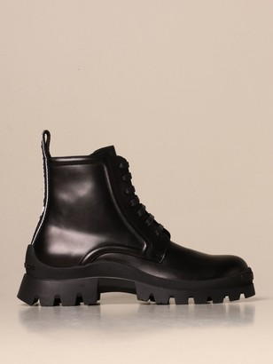 DSQUARED2 Boots Ankle Boot In Leather With Logoed Band