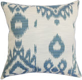 One Kings Lane Gaera 18x18 Cotton Pillow, Denim