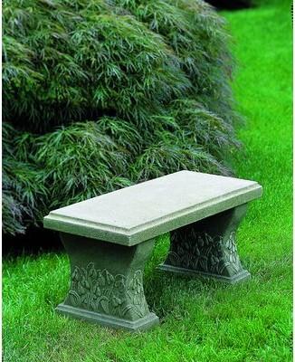 Campania International Snowdrop Cast Stone Garden Bench Color: Natural