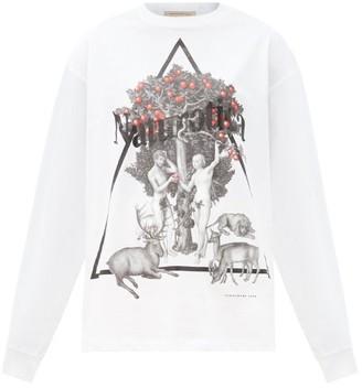 Christopher Kane Naturotica-print Long-sleeved Cotton T-shirt - White