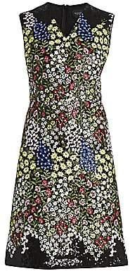 Giambattista Valli Women's Floral-Embellished Cashmere & Silk Sheath