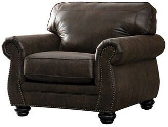 Acanva Contemporary Leathaire Standard Armchair Darby Home Co Upholstery Color: Walnut Brown