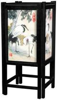 "Oriental Furniture 14"" Art Shoji Lamp, Cranes"