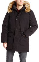 Vince Camuto Men's Down Snorkel Coat with Fur-Trimmed Hood
