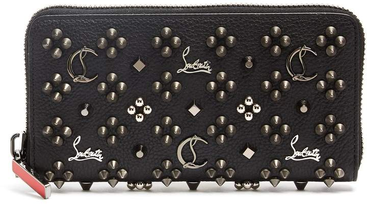 Christian Louboutin Embellished zip-around leather wallet