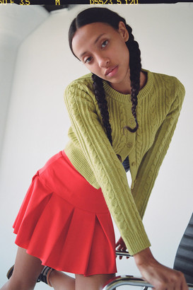 Urban Outfitters Max Cable Knit Cropped Cardigan
