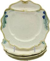 One Kings Lane Vintage Antique Majolica Asparagus Plates, S/4