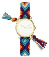 RumbaTime Rumba Time Jane Action Against Hunger Cotton Band Watch - Gold