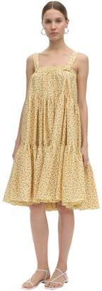 Batsheva Amy Printed Cotton Ruffled Dress & Skirt