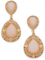 INC International Concepts Gold-Tone Pink Stone & Pave Drop Earrings, Created for Macy's