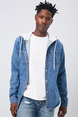 Forever 21 Denim Hooded Jacket