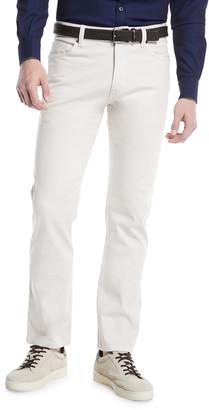 Ermenegildo Zegna Cotton Canvas Regular-Fit Chino Pants, White