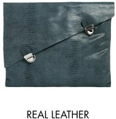 Asos Leather Asymmetric Clutch Bag with Double Lock