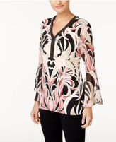 JM Collection Beaded Printed Tunic, Created for Macy's