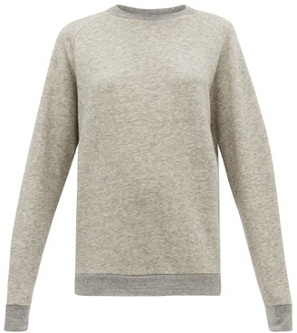 Raey Raglan-sleeve Cotton-blend Sweatshirt - Womens - Light Grey
