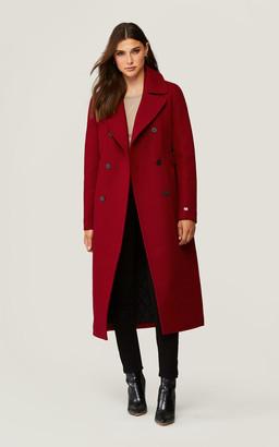 Soia & Kyo INES Slim-fit calf length belted wool coat