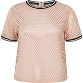 River Island Womens Pink sporty mesh T-shirt