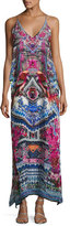 Camilla Embellished Silk V-Neck Layered Maxi Dress, From Kaili with Love